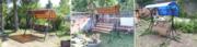 Садовые разборные качели для детей и взрослых